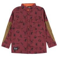 Wild Animals Shirt Bordeaux for kids