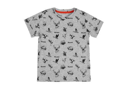 Hooké T-Shirt Animaux Sauvages Gris Mix pour enfants