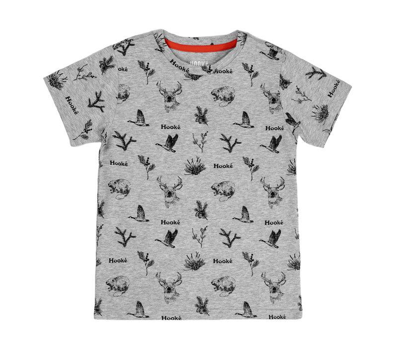 Wild Animals T-Shirt Heather Grey for kids