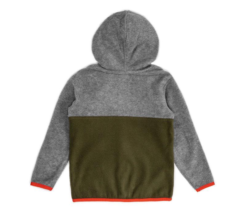 Kangaroo Zip Fleece Grey & Olive