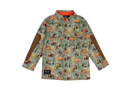 Hooké Woodland Shirt Olive for kids