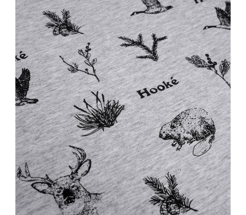 T-Shirt Animaux Sauvages Gris Mix pour enfants