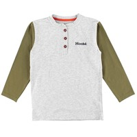 Henley Chalet Long Sleeve Grey & Olive