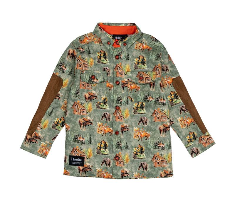 Chemise des Bois Olive pour enfants