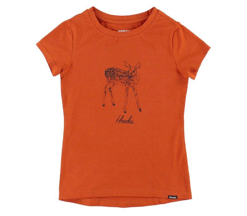 Deer T-Shirt Orange for kids