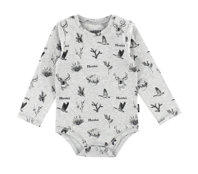 Wild Animals Diaper Cover Grey