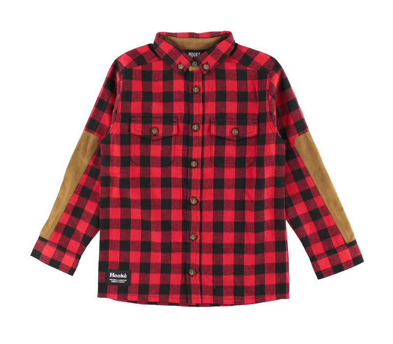 Canadian Flanel Shirt Red & Black for kids