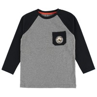 Moose Raglan T-Shirt Black