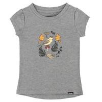 T-Shirt Oiseau et Feuillage Gris Mix pour enfants