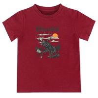 Moose T-Shirt Burgundy for kids