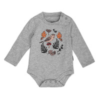 Bird and Foliage Diaper Cover Grey Mix