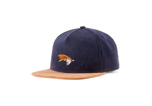 Salmon Fly Strap Back Navy & Camel
