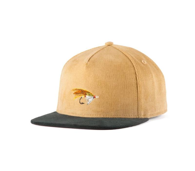 Salmon Fly Strap Back Sand & Green