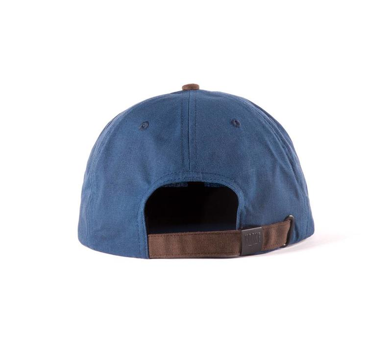 Hooké Waxed Strap Back Blue & Brown