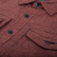 Veste Isolée Tweed Rouge brulé