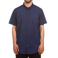 Fly Short Sleeve Shirt Washed Navy