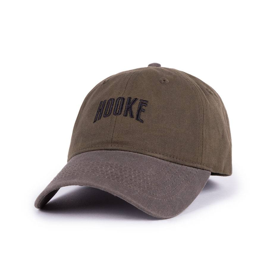 Hooké Waxed Dad Hat Khaki & Charcoal