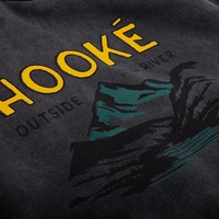 Outside By The River Hoodie Noir Vintage