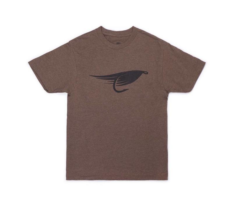 Fly T-Shirt Brun Chiné
