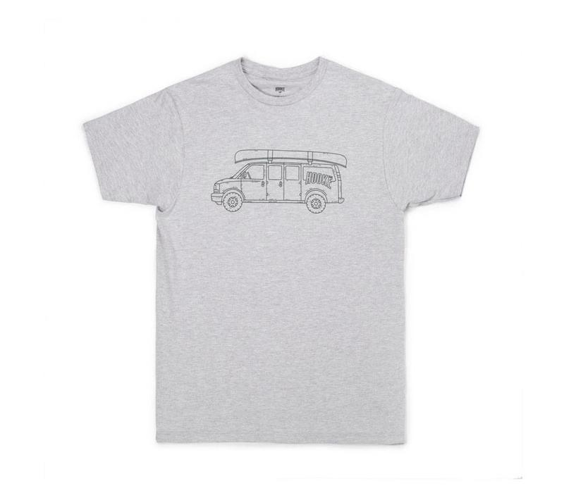 Hooké Van T-Shirt Heather Grey