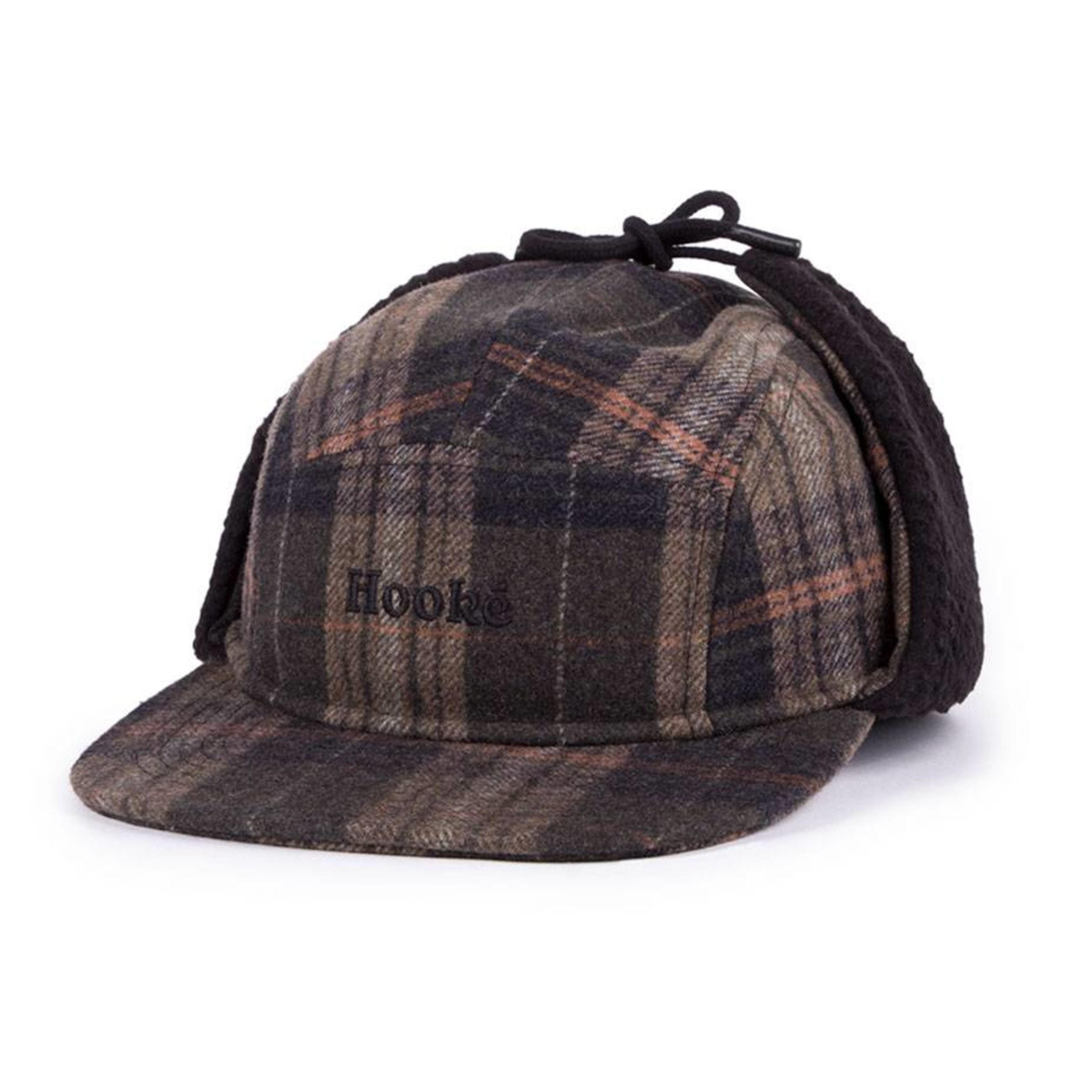 3c0fa1a1a23 Ear Flap Camper Hat - Olive Plaid