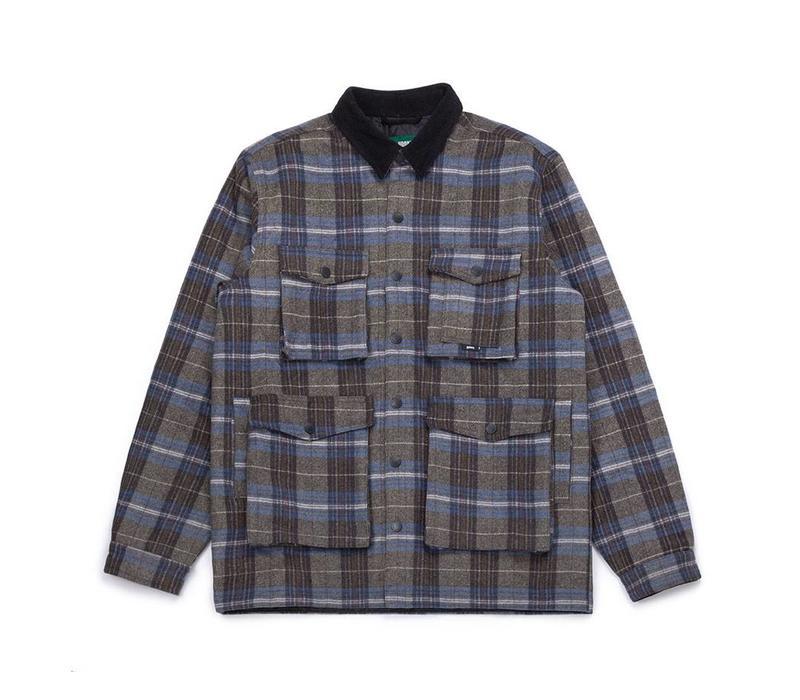 Manteau Ruffed Grouse Bleu et Charbon à Carreaux