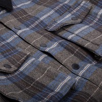 Ruffed Grouse Jacket Blue & Charcoal Plaid