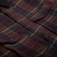 Ruffed Grouse Jacket Burgundy Plaid