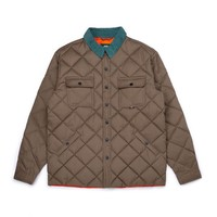 Manteau Waxed Quilted Brun Kaki