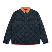 Manteau Waxed Quilted Marine