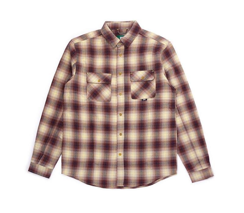 Adventure Shirt Cream & Red Plaid