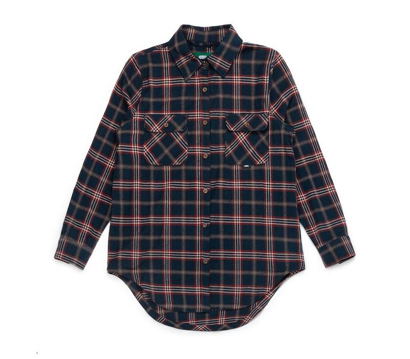 Women's Adventure Shirt Navy Plaid