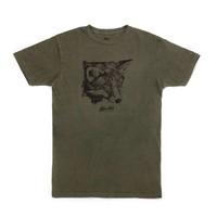 T-Shirt Fox Femme Olive Vintage