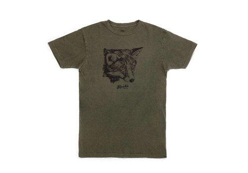 T-Shirt Fox Femme Olive