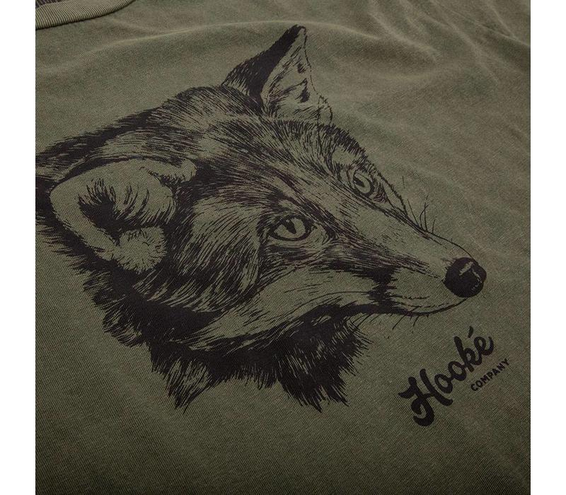 Women's Fox T-Shirt Vintage Olive