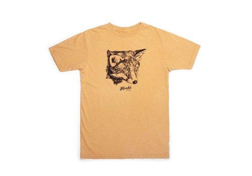 T-Shirt Fox Femme Moutarde