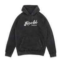 Hoodie Discharged Femme Noir Vintage