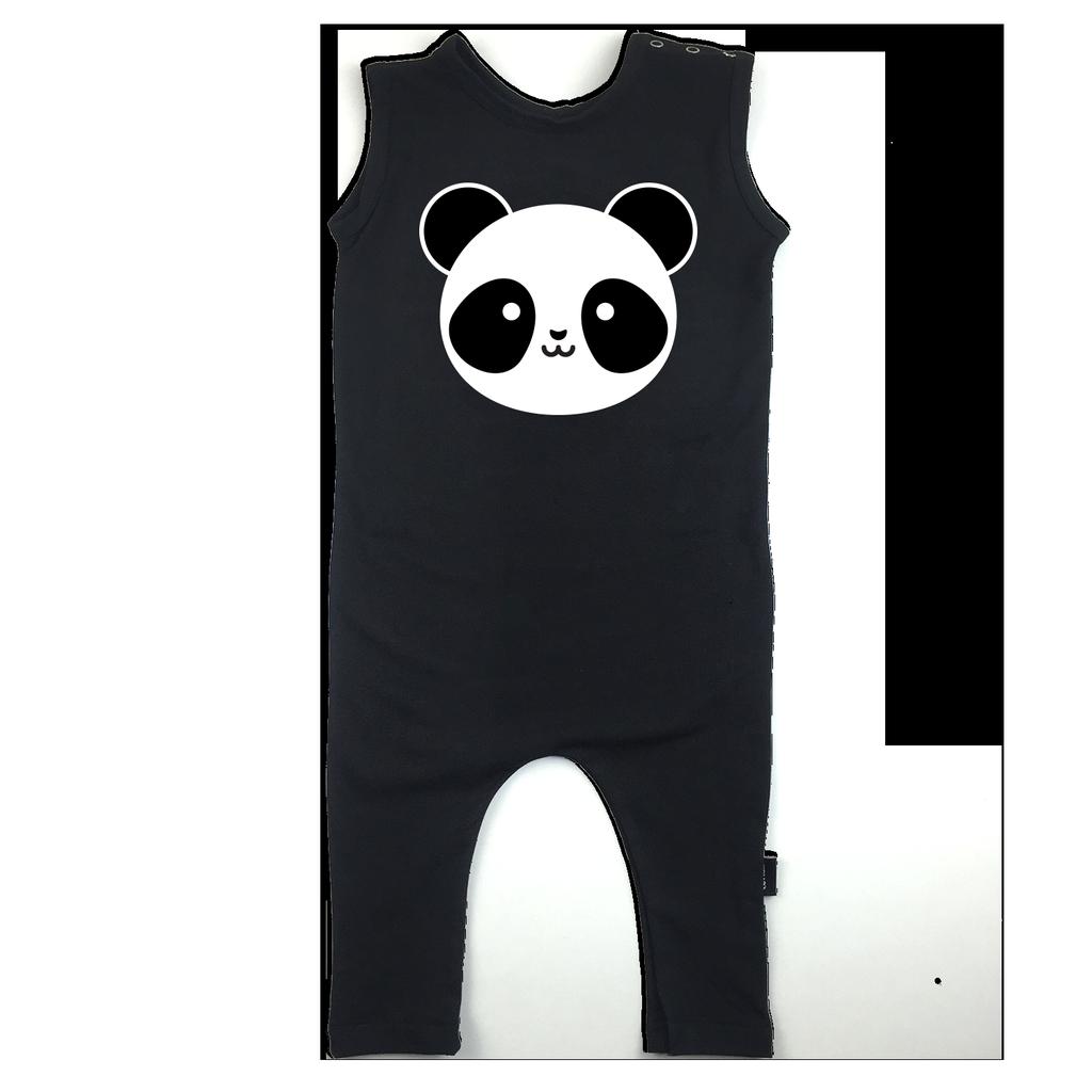 Whistle & Flute Whistle & Flute - Panda Romper Bodysuit