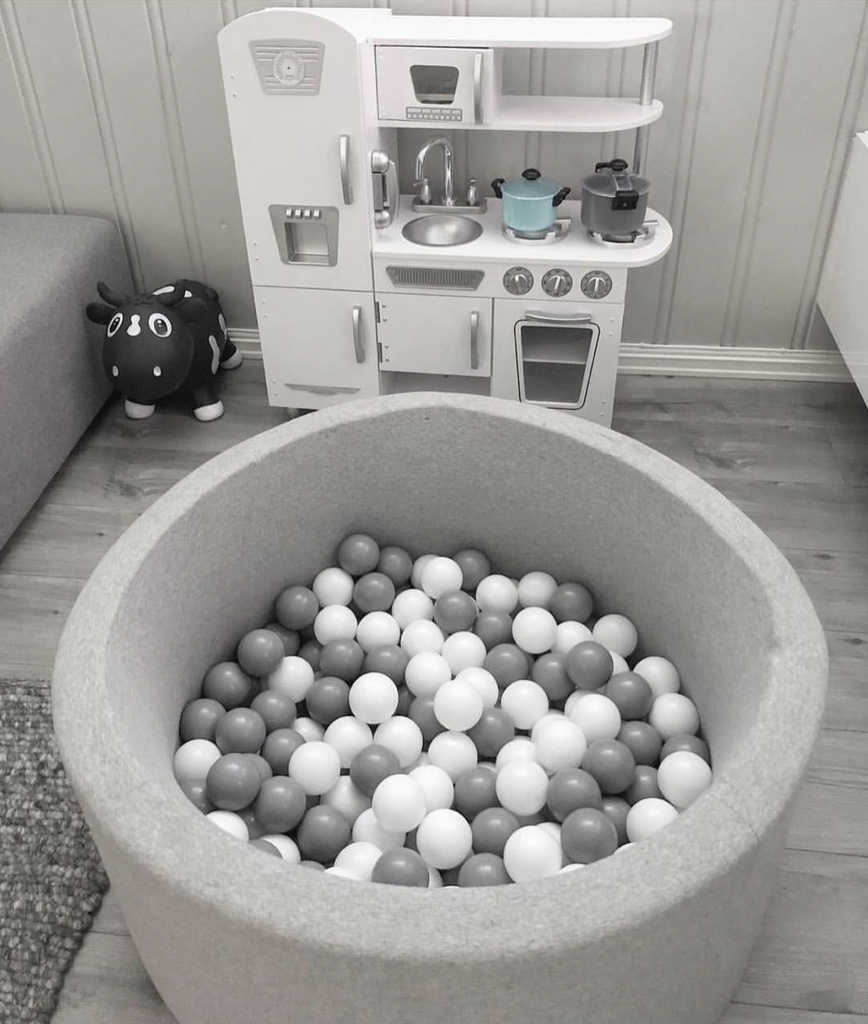 BabyLu & Co BabyLu & Co - Ball Pit Grey (White/Grey)