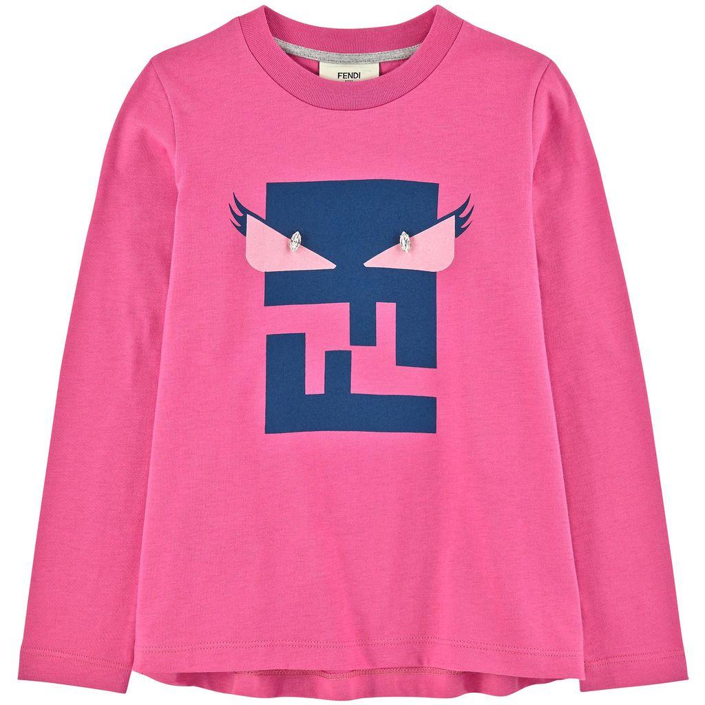 b550bcb8 Fendi Kids - Girl's Long Sleeve T-Shirt - Adore