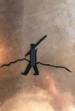 Walking Man Magnet Black