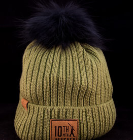 Beanie - Green Fur Knit