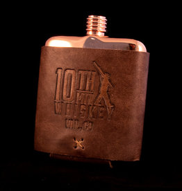 10th Mountain Whiskey & Spirit Co. Leather Wrapped Copper Flask