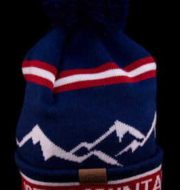 10th Mountain Whiskey & Spirit Co. Beanie Blue Mountain Pom