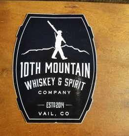 "10th Mountain Whiskey & Spirit Co. Sticker - 4"" Barrel Logo Black"