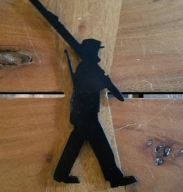 10th Mountain Whiskey & Spirit Co. Walking Man Magnet Black W/O