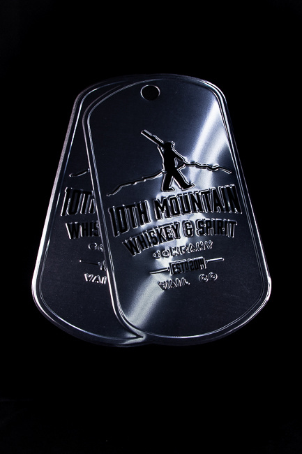 10th Mountain Whiskey & Spirit Co. Tin Tacker Dog Tags