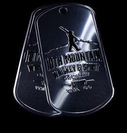 10th Mountain Whiskey & Spirit Co. Tin Tacker Dog Tags