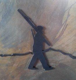 10th Mountain Whiskey & Spirit Co. Large Walking Man Magnet Black