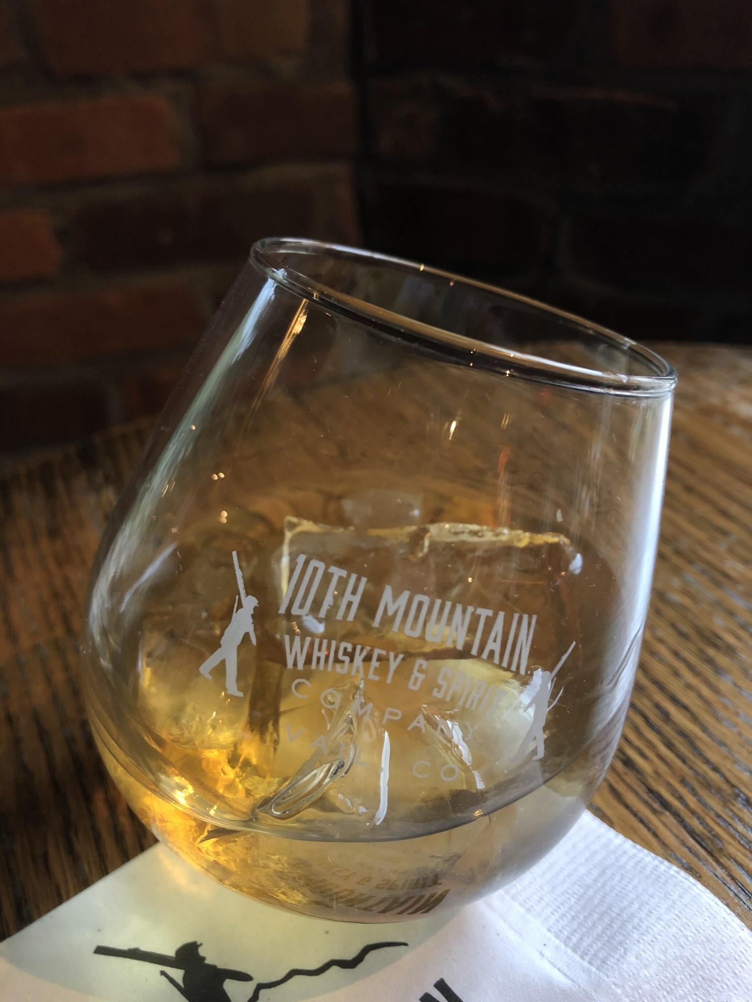 10th Mountain Whiskey & Spirit Co. Rocker Glass